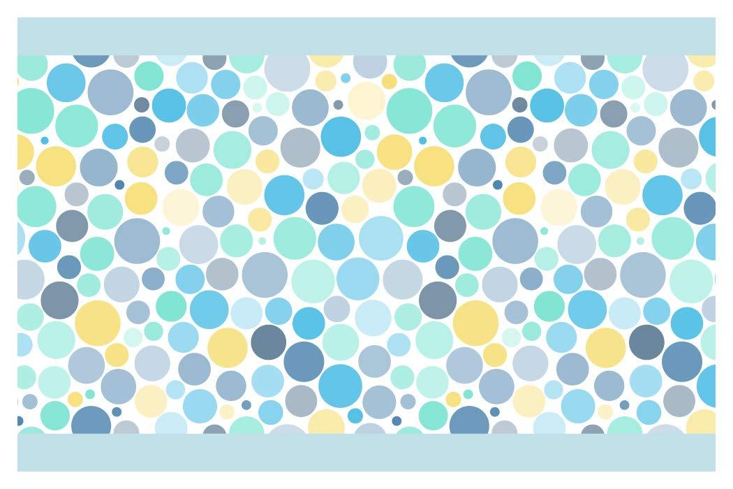 15 cm; Breite I-love-Wandtattoo Sticker mural B de 10170/Chambre Frise Motif cercles en bleu 5 m H/öhe jaune et menthe jeunes filles D/écoration Murale Sticker mural Stickers muraux sticker mural