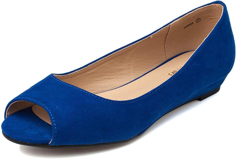 Flats Shoes Low Wedge Heel