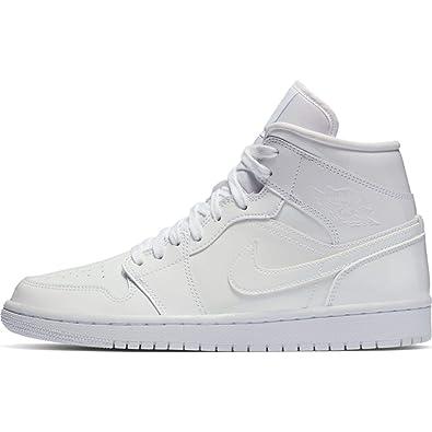 los angeles 65ce8 19fd4 Amazon.com | Jordan WMNS Air 1 Mid Womens Shoes White/White ...