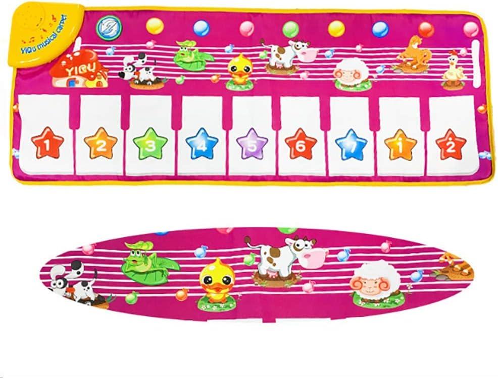 YUHT Multifunktionale Kindermusik- und Tanzdecke, Pedal-Klavierteppich für die frühe Bildung, Spiellehrspielzeug, Geschenke für Jungen und Mädchen, 1 Tanzmatte 1