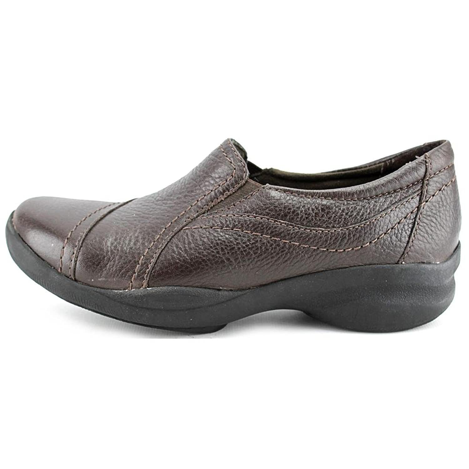 Clarks Women's In Motion Kick Slip-On Loafer, Brown, Size 5.0
