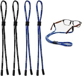 2 negros y 2 azules 4 piezas de cuerda para gafas de seguridad,cuerda de ajuste universal para gafas deportivas,correa ajustable para gafas,cordones para hombres y mujeres YMWALK Correa para gafas