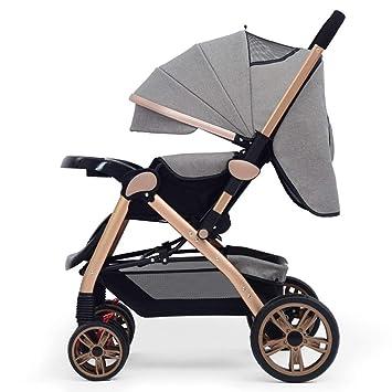 JKHGJUH Cochecito de bebé recién Nacido para el Carro descapotable Plegable Infantil Lujo de Alta Vista