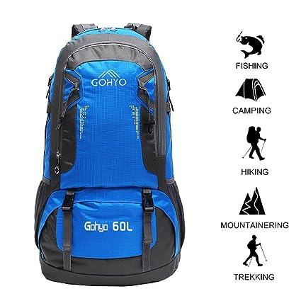 1d60e716f08f Gohyo 60L Large Hiking Backpacks Lightweight Climbing Fishing Traveling Backpack  Hiking Daypack