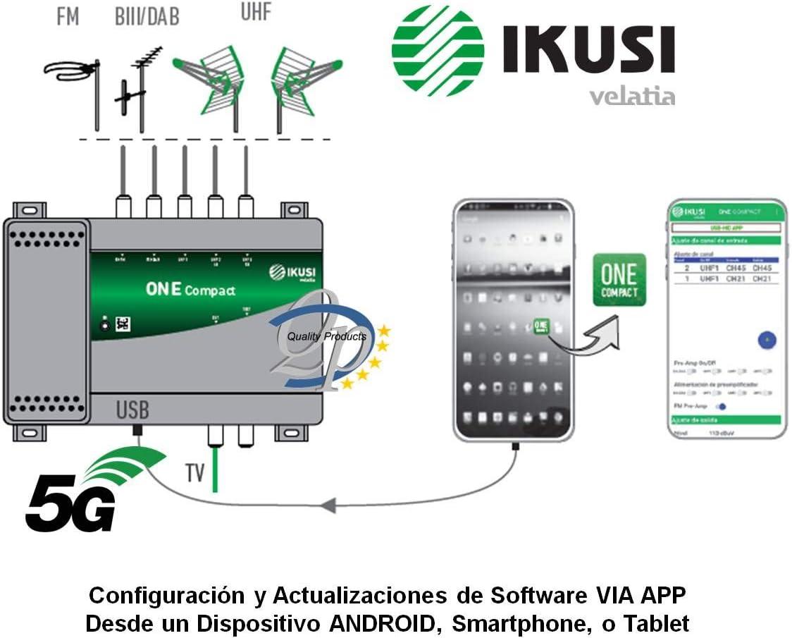 Central Programable 5e/1s One Compact LTE 5G Ikusi: Amazon.es ...