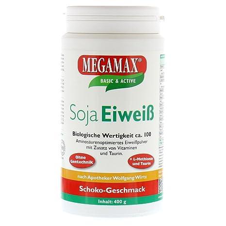 Megamax - Soja Eiweiß - Proteínas de soja - Crecimiento muscular y dieta - Valor biológico