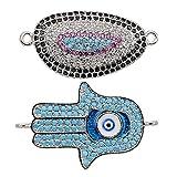 Jeka Charms Jewelry Making for Women-2Pcs Cystal