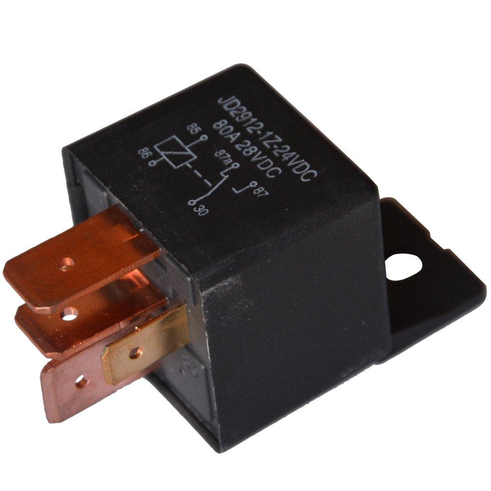 10 St/ück 5-Pin JD2912-1Z-24VDC 80A 28VDC SPDT-LKW-Boot Van Fahrzeug Auto Relais 24V-Schalter Ehdis