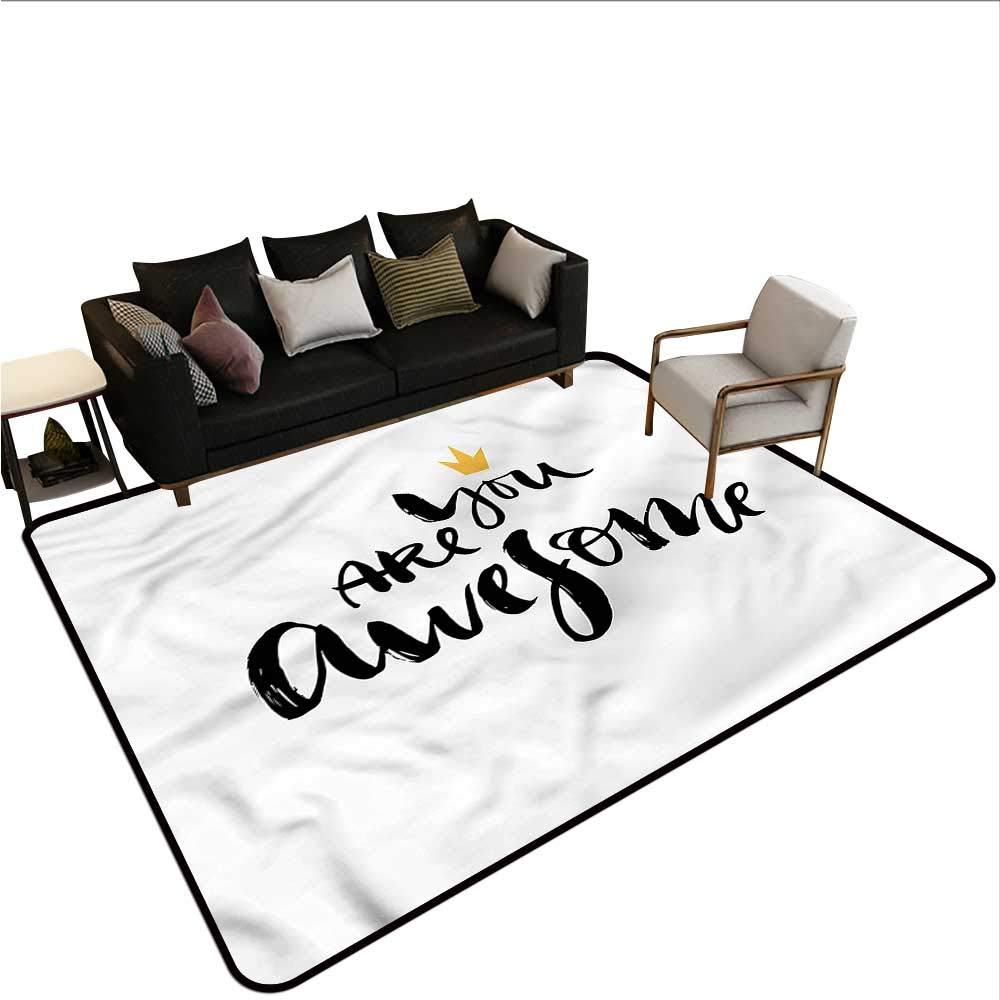 """Modern,Front Mat Home Decorative Carpet 64""""x 96"""" You are Awesome Calligraphy Bath Rugs for Bathroom Non Slip 61iqpH9kwZL._SL1000_"""
