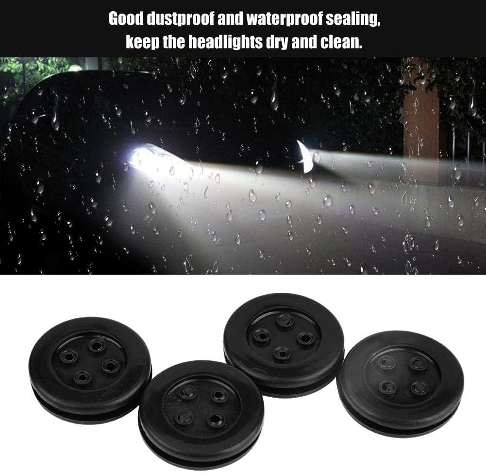 Headlight Dust Cover 4Pcs 30mm Car LED Bulb Headlight Rubber Dustproof Sealing Cover Cap Mini Dust Cover