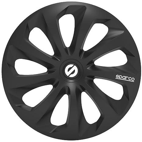 "SPARCO SPC1570BK Tapacubos Sicilia, Negro, Set de 4, 15"""