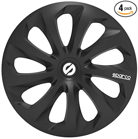 Amazon.com: Sparco SPC1470BK Sicilia Wheel Covers, Black, Set of 4, 14