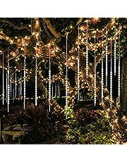 BlueFire Meteordouche regenverlichting, 50 cm, 10 buizen, 540 leds, waterdicht, sneeuwval, lichtketting voor buiten, binnenruimte, tuin, bruiloft, feest, kerstdecoratie