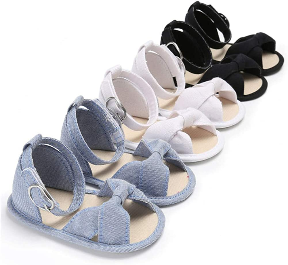 Blue 0-6 M Comforty Baby Shoes for Newborn Baby Girl Soft Sole Crib Shoes Infant Toddler Summer Sandals Footwear