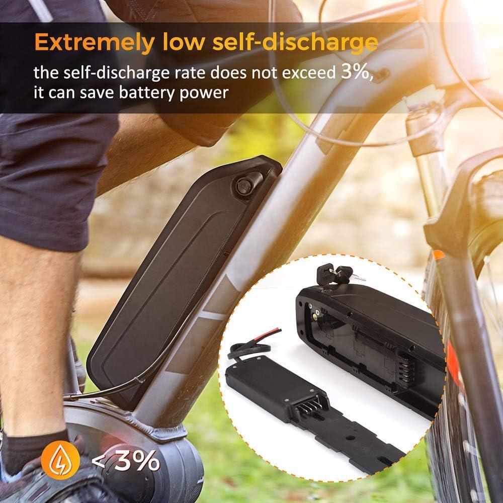 Bike Battery Hailong Battery Pack with 42V 2A Charger Rechargeable E-Bike Battery X-go 36v Bike Battery 36V Ebike Battery 360Wh 36V 10AH Electric Bike Lithium-ion Battery for 500W Bike Motor
