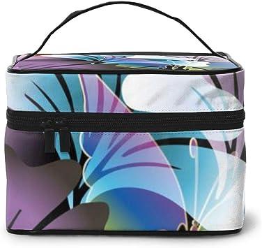 Colorido Floral Brillante Primavera Verano Maquillaje Bolsa Viaje Cosmético Bolsa/Estuche Neceser Bolsa Pinceles Bolsa para Mujer: Amazon.es: Equipaje