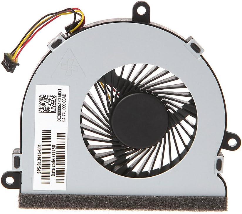 huiouer - Ventilador de refrigeración para Ordenador portátil HP 15-AC Series DC28000GAR0 SPS-813946-001