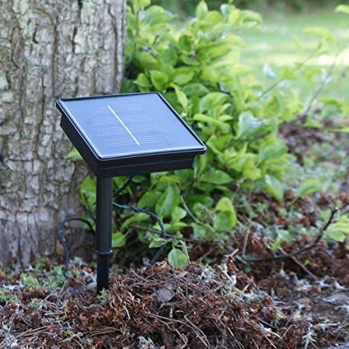 Guirnalda de luces LED solar (para exteriores con temporizador y ...