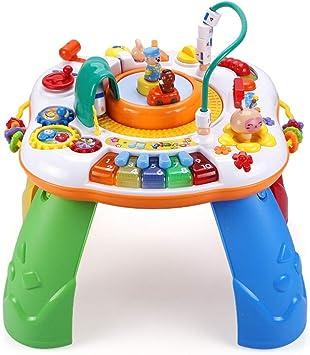Cajas de música Mesa De Juguetes Para Niños Mesa De Juegos De Rompecabezas Multifunción Mesa De