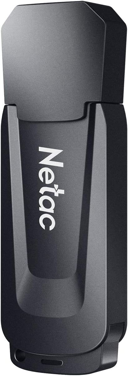 Netac 128GB USB 3.0 Flash Drive, USB Stick Read Speeds up to 90MB/s, Thumb Drive in Black, Memory Stick for PC/Laptop/External Storage Data, Jump Drive, Photo Stick Digital for Photos/Videos - U189