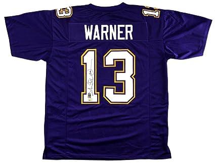 buy popular 562d8 e2df8 Kurt Warner Signed Jersey - Purple Custom - Autographed ...