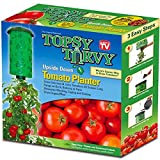 hanging tomato baskets - Topsy Turvy Upside-Down Tomato Planter,Green,10Wx10Hx4D