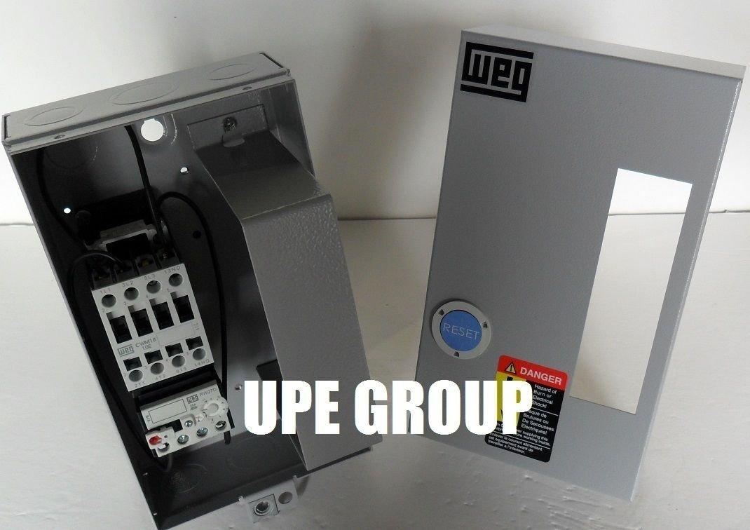 WEG MAGNETIC STARTER FOR ELECTRIC MOTOR AIR COMRPESSOR 10 HP 3 PHASE 230V 40 AMP