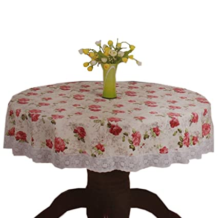 Etonnant Big Red Rose Garden Tablecloths Circular Tablecloth 70 Inch