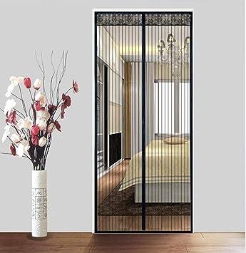 ZLIAN Actualizado puerta de pantalla magnética, fibra de vidrio cinta magnética Pantalla cortina de insectos bastidor de tela imán for trabajo pesado, Negro, 85x210cm (33x83inch): Amazon.es: Bricolaje y herramientas