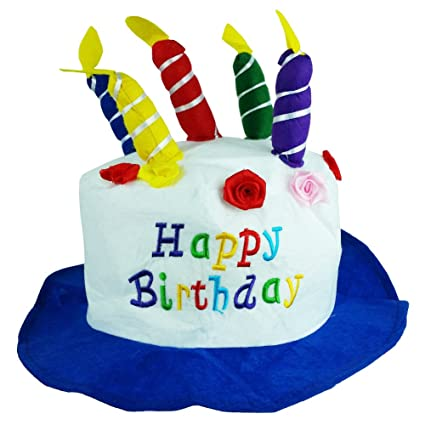 Felt Birthday Hat Cake With Candles Party Hats Unisex By Funny