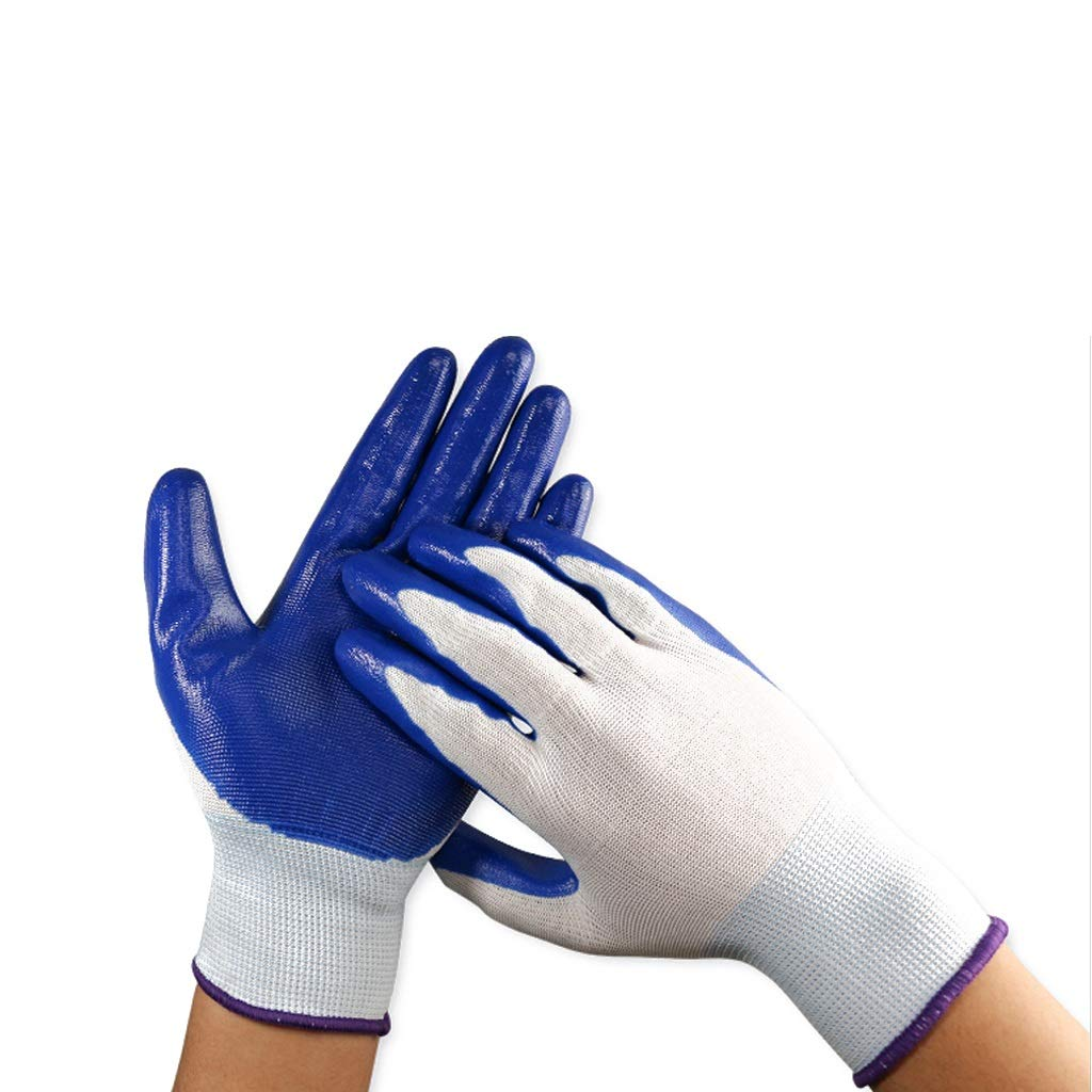 LZRZBH PU Coated Industrial Gloves, Men and Women Work Gloves, Fashion Garden Series Ultimate Sensitive Gloves for Gardening,Cut Resistant Gloves