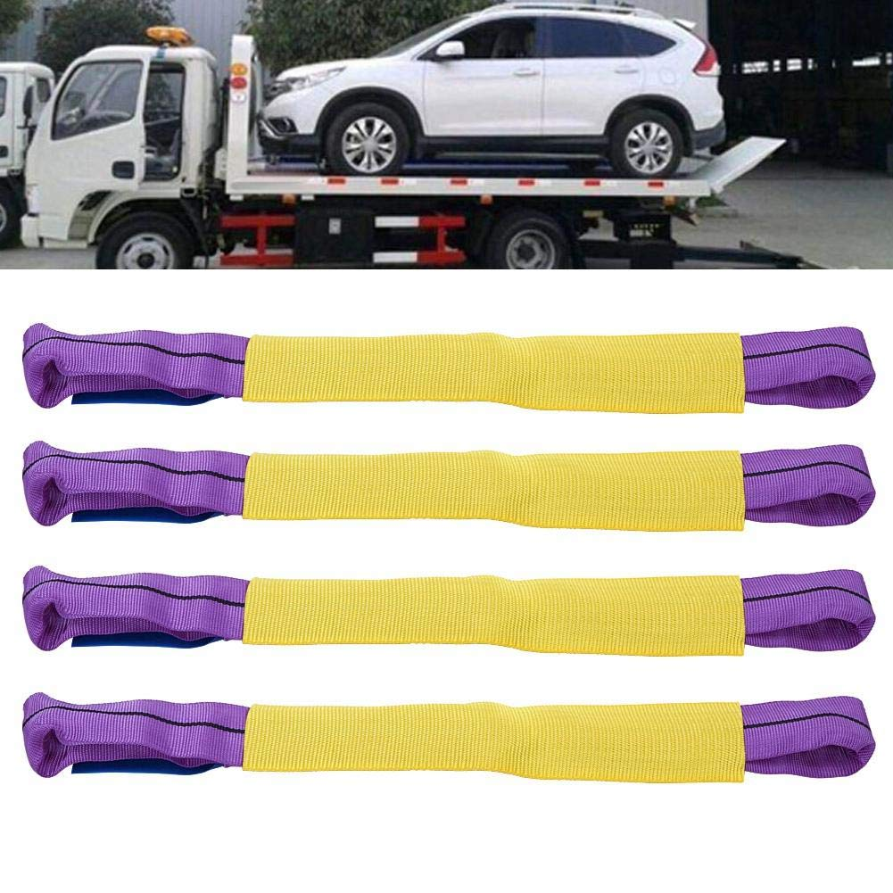 4PCS Erholung Leichtmetallrad Sicherung Link Straps f/ür Trailer Transporter Gelb und Lila 5000 kg Ratschengurte