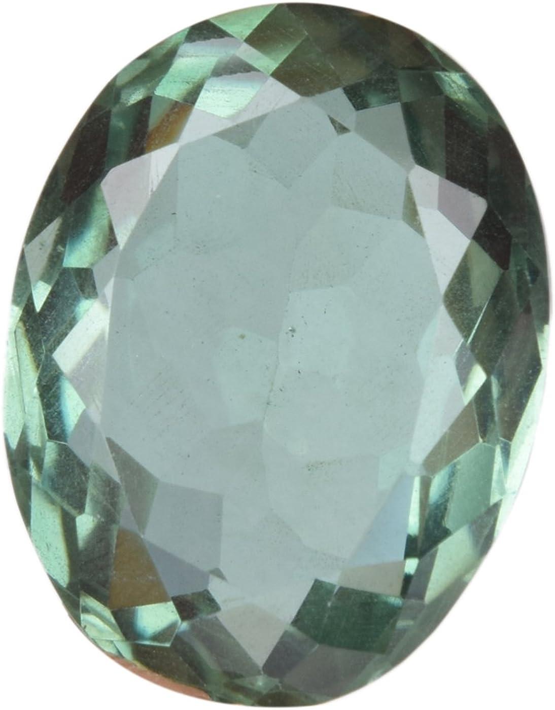 Gemhub 27.00 CT. Forma Ovalada Amatista Verde, facetas translúcidas Colgante tamaño Amatista Piedras Preciosas BL-867