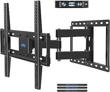 LCD LED TV Halterung MD2380-03 OLED Plasma TVs mit VESA 75x75-400x400mm bis zu 45kg Mounting Dream TV Wandhalterung Schwenkbar Neigbar Fernseher Wandhalterung f/ür die meisten 66-140cm 26-55 Zoll