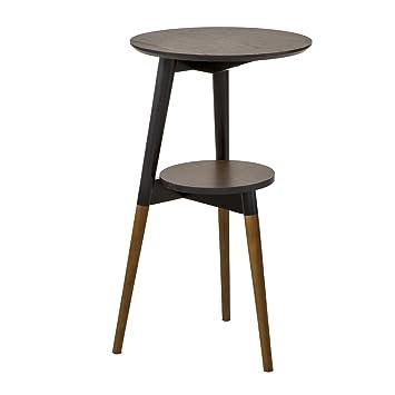 SoBuy® - Mesa auxiliar baja de sofá, mesa de café, con 2 pisos ...