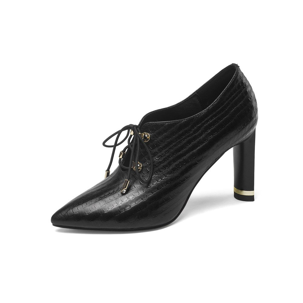 Nine Seven Genuine Leather Women's Pointed Toe Pumps - Handmade Gorgeous High Heel Dress Shoes