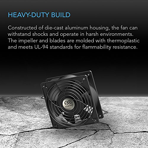 AC Infinity AXIAL 8038, Quiet Muffin Fan, 115V 120V AC 80mm x 38mm Low Speed, for DIY Cooling Ventilation Exhaust Projects by AC Infinity (Image #4)