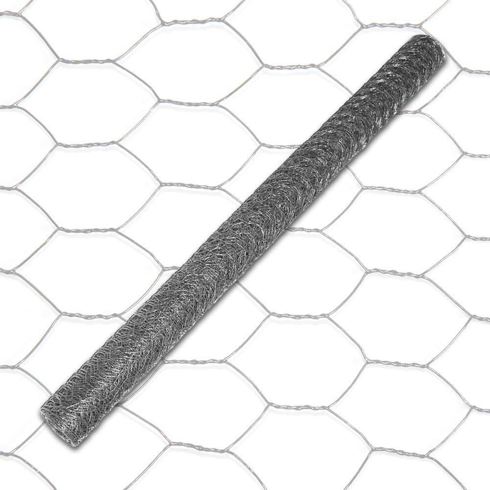 H: 50 cm L: 25 m Rolle MW: 13 mm anthrazit INDUTEC Sechseckgeflecht Drahtzaun Drahtgeflecht Gartenzaun Hasendraht