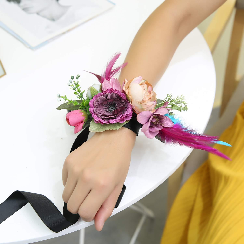 fa1f1e53 Ever Fairy moda flor cinturones de flores Conjunto de peine de pelo ...