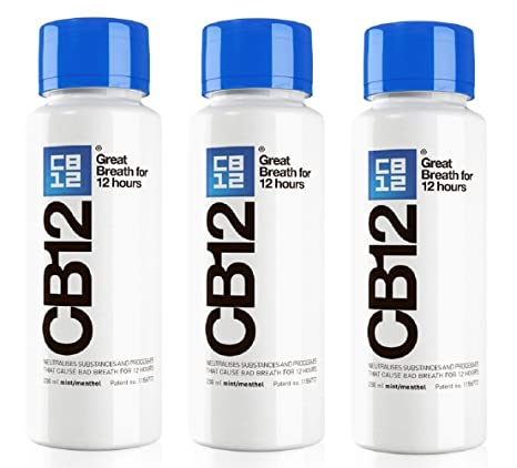 CB12 250ML PAQUETE DE 3 Menta / Mentol Enjuague bucal