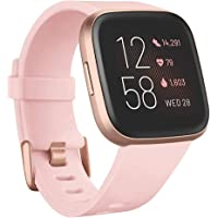 Fitbit Versa 2 Health and Fitness Watch with Heart Rate, Sleep and Swim Tracking - Petal/Copper Rose