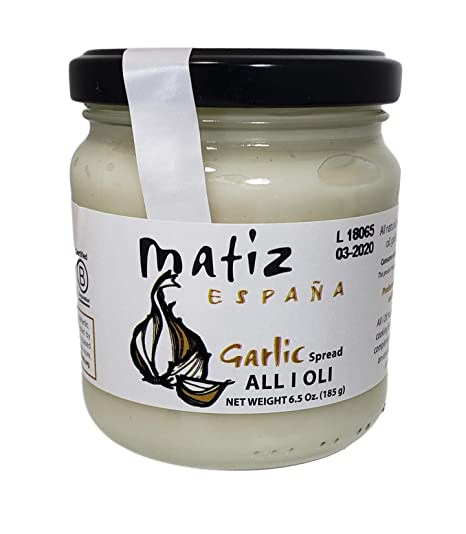 Amazon.com : Matiz All I Oli Garlic Spread, 6.5 Ounce : Hot Sauces : Grocery & Gourmet Food