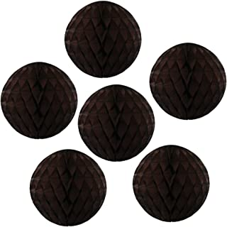 product image for 6-pack 5 Inch Dark Brown Honeycomb Tissue Paper Balls