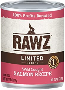 Rawz Wild Caught Salmon Recipe Canned Food for Dogs 12/12.5 oz Cans