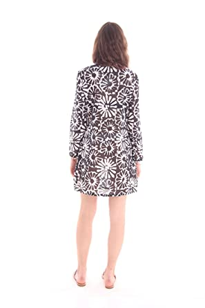 483466771fa08 Amazon.com: Tory Burch Swimwear Women's Pomelo Floral Beach Tunic Cover-Up  Ivory Pomelo Floral Large: Clothing