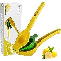 HomeTeck® Citroenpers, 2 in 1 Sinaasappelpers Handmatige Limoenpers Citruspers, Aluminiumlegering, BPA-vrij…