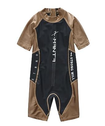 7ed2e4367503b M2C X-Manta Boys Swimsuit UPF 50+ UV Sun Protective One-Piece Coffee