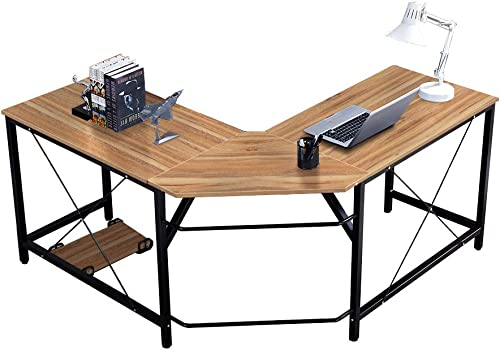 SogesHome L-Shaped Desk 59inches Computer Desk Office Computer Table Workstation