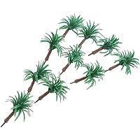 MagiDeal DIY Miniature Landscape 10Pcs Models Tree 6cm HO for RR Park Garden Street