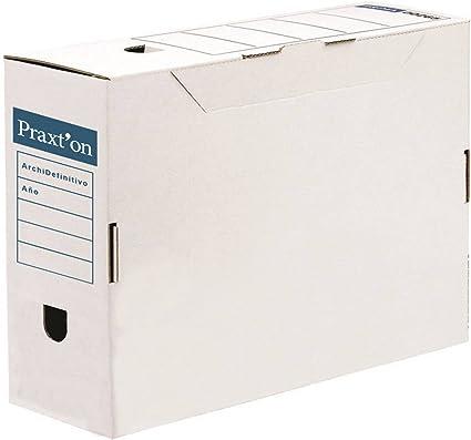Caja Archivo Definitivo PRAXTON, Folio Cartón Desmontable, Pack x10: Amazon.es: Oficina y papelería